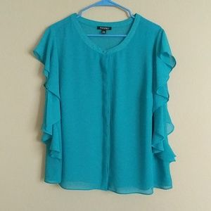 Roz and Ali Blue casual top
